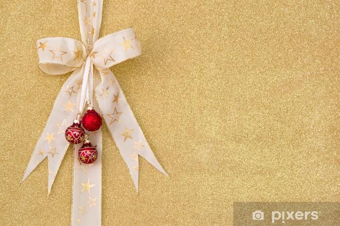 Sticker Pixerstick Fond d'or pour Noël - Fêtes internationales