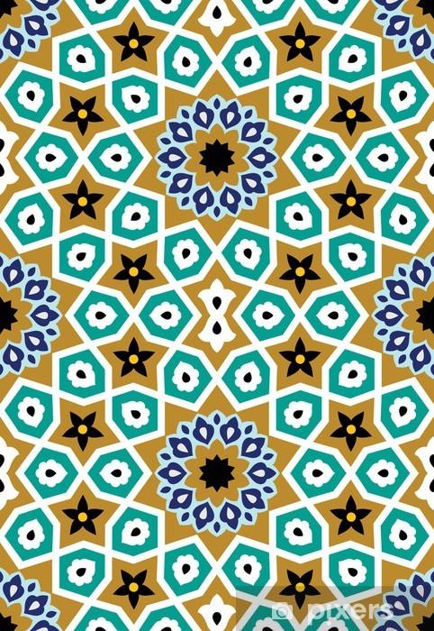 Sticker Pixerstick Nurabad Seamless Pattern Cinq - Moyen Orient
