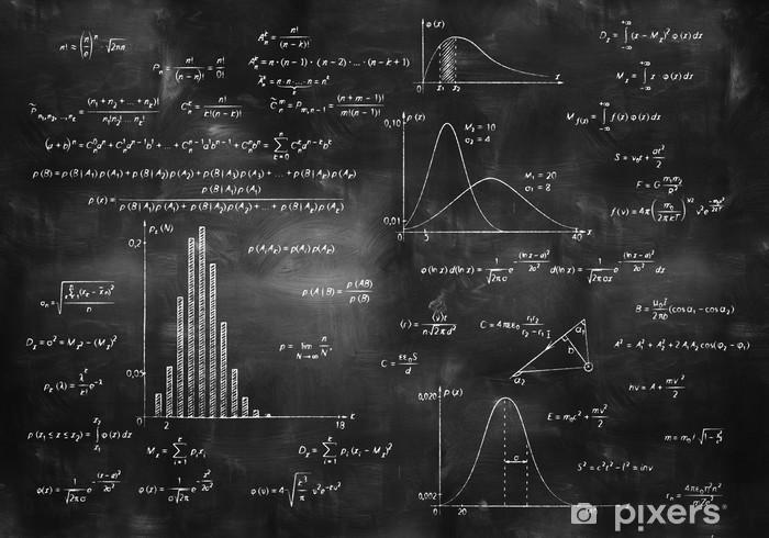 math physics formulas on chalkboard Pixerstick Sticker - Lifestyle