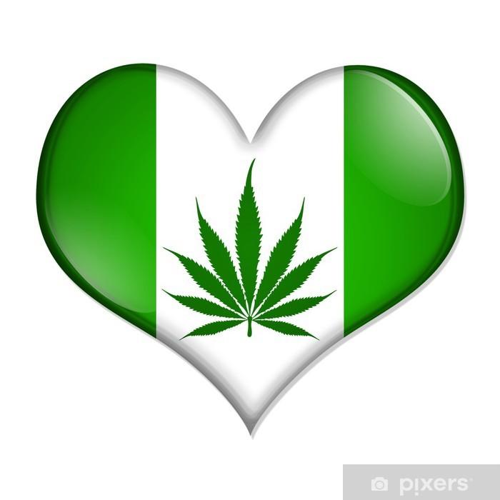 Love marijuana button Pixerstick Sticker - Health and Medicine