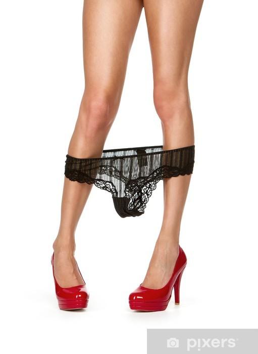 d9c61523 Fototapeta winylowa Sexy nogi kobiet z czerwonym Wysokie obcasy  samodzielnie na białym tle
