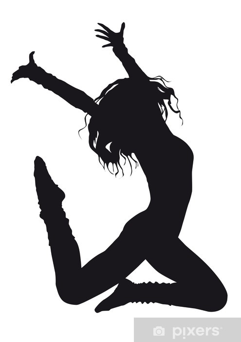 Dancer Silhouette On A White Background Wall Mural Pixers We Live To Change
