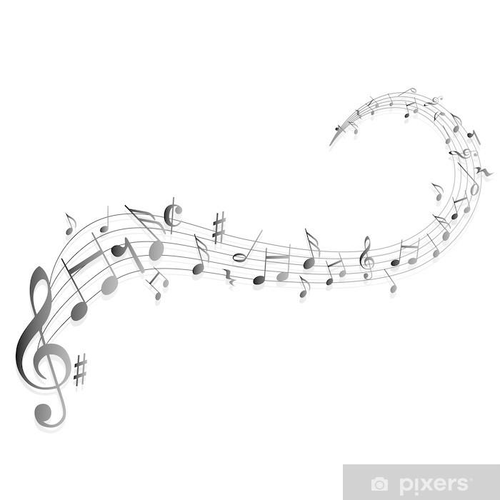 fototapete notenschlüssel noten musik • pixers®  wir
