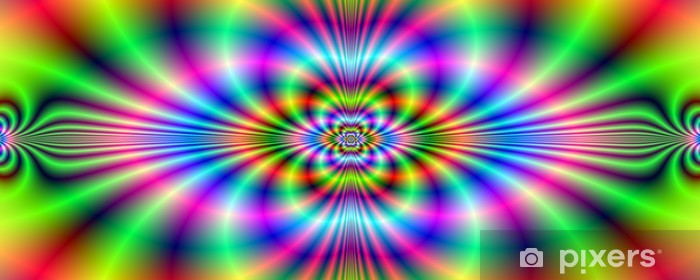 Vinyl-Fototapete Psychedelic Neon Banner - Vorlagen