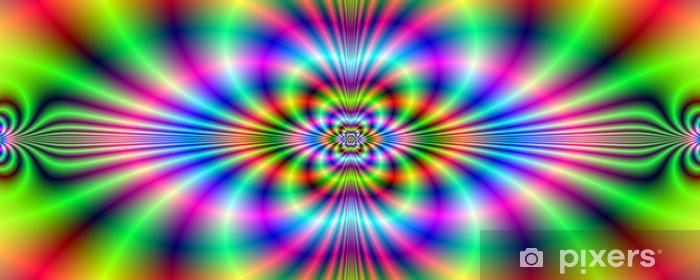 Fototapeta winylowa Psychedelic Banner Neon - Abstrakcja
