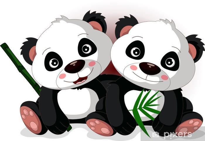 Papier Peint Le Frère De Dessin Animé Mignon Panda