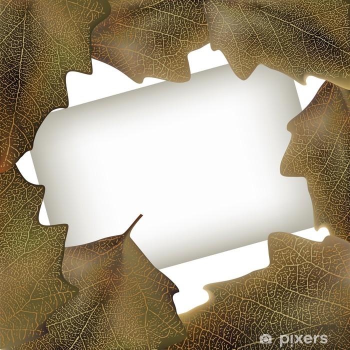 Papier peint vinyle Vector illustration de la saison d'automne laisse la trame - Saisons