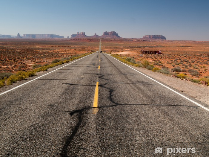 Pixerstick Sticker Weg naar Monument Valley - uit het zicht - Thema's