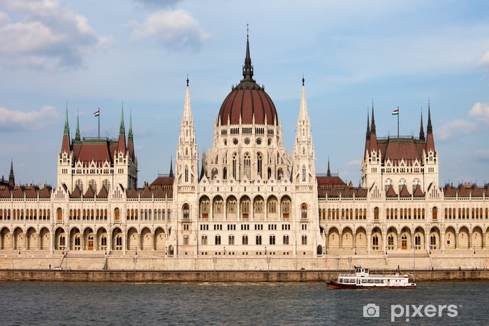 Hungarian Parliament Building in Budapest Pixerstick Sticker - Other