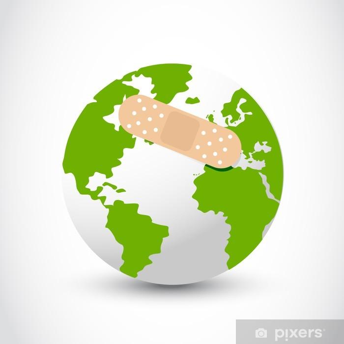 Sticker Pixerstick Vecteur de l'aide de terre - Ecologie