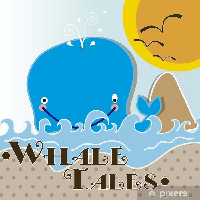 Vinyl-Fototapete Whale Tiere Symbole - Unterwasserwelt