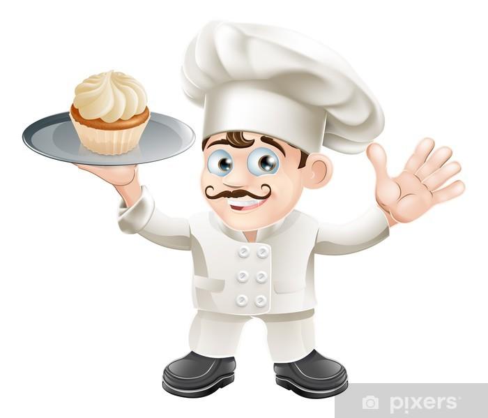Poster Kuchen Bäcker - Wandtattoo