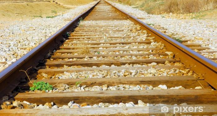 Vinyl-Fototapete Portugal, Algarve, Lagos: Eisenbahnschienen - Eisenbahn