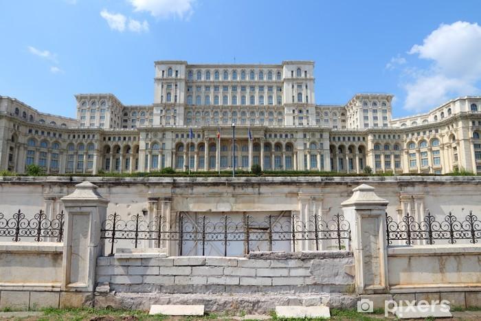 Papier peint vinyle Bucarest - Palais du Parlement - Paysages urbains