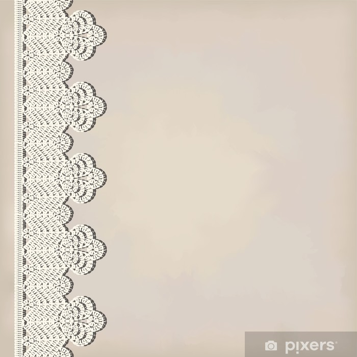 Sticker Pixerstick Frontière de dentelle sur le fond grunge - Arrière plans