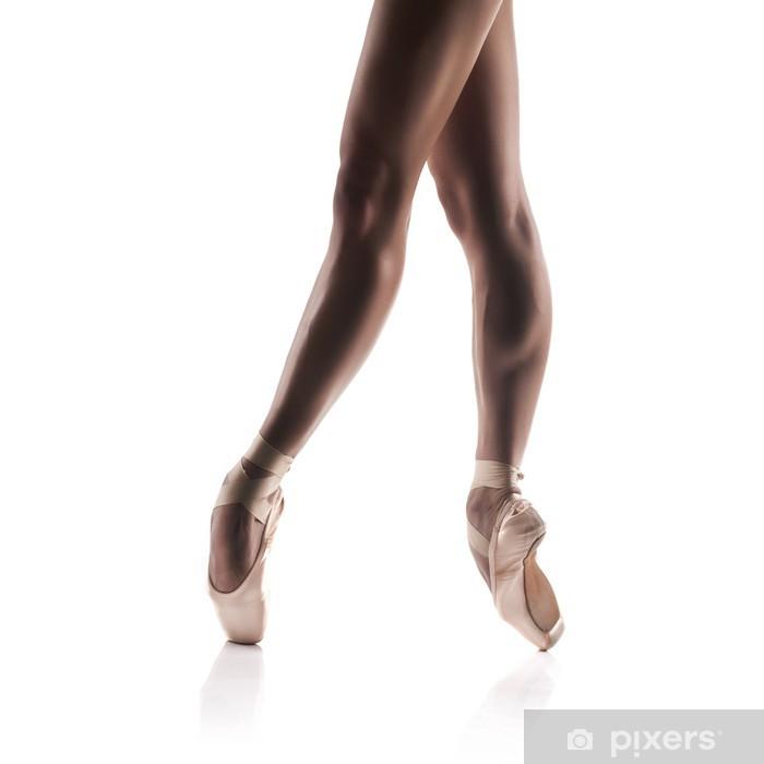 Fototapeta winylowa Piękne Baletnicy nogi samodzielnie na białym tle - Budynki i architektura