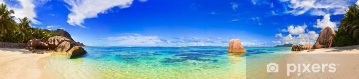 Fototapeta winylowa Źródło plaży na Seszelach d'Argent - Palmy