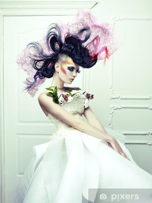 Fotomural Estándar Señora con el pelo avant-garde - Moda