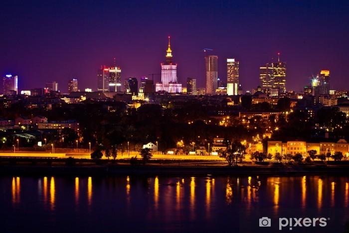 Naklejka Pixerstick Panorama warszawy - Tematy