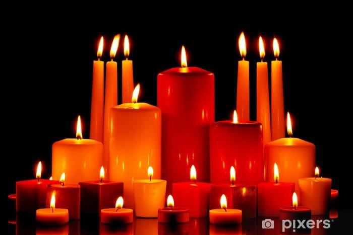 Suuri joukko kynttilöitä, jotka polttavat Pixerstick tarra - Kansainväliset Juhlinnat