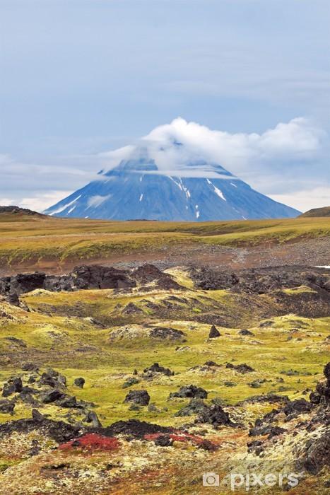 Vinilo Pixerstick Paisaje Kamchatka. - Montañas