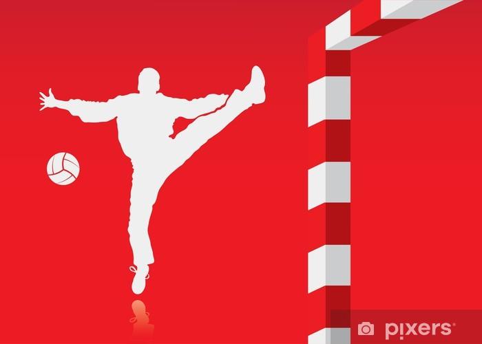 Fototapeta winylowa Piłka ręczna w tle - Sporty drużynowe