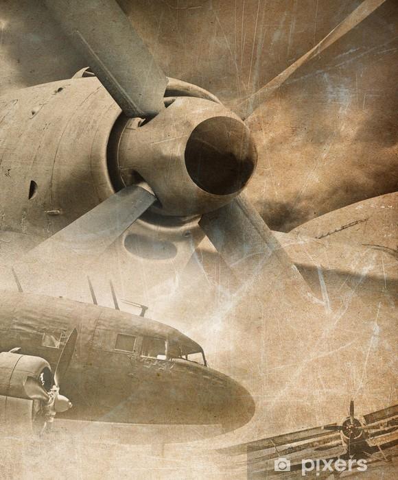 Naklejka Pixerstick Retro lotnictwo, zabytkowe tło - Style