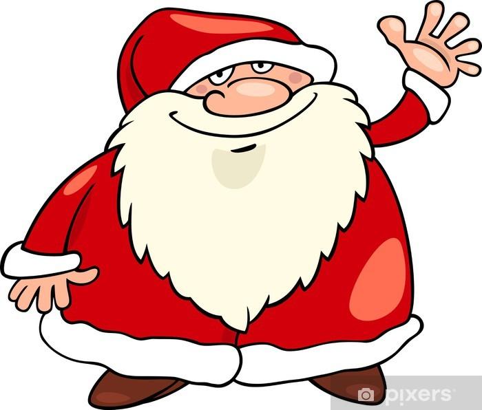 Aufkleber Weihnachtsmann Weihnachten Cartoon Pixerstick