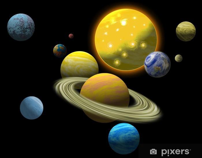 Vinyl Fotobehang Zonnestelsel - Planeten