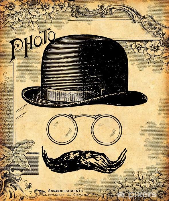 Le gentleman Vinyl Wall Mural - Moustache