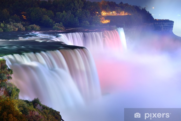 Niagara Falls in colors Pixerstick Sticker - Themes