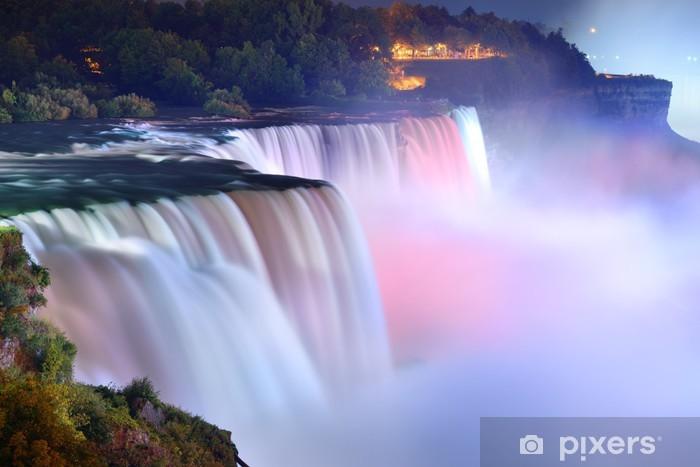 Pixerstick Sticker Niagara Falls in de kleuren - Thema's