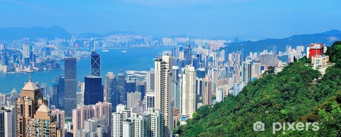 Naklejka Pixerstick Hong Kong mountain top view - Azja