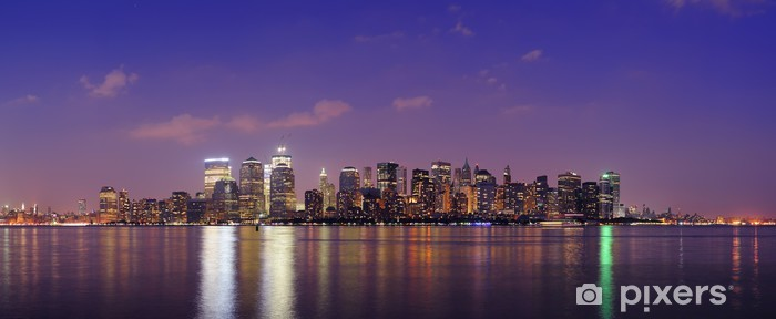 Vinyl-Fototapete New York City Manhattan Sonnenuntergang Panorama - Amerika