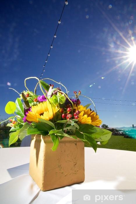 Bridal Arrangement with Starburst Vinyl Wall Mural - Flowers