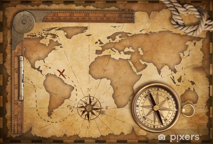 Carta da Parati Di età compresa tra mappa del tesoro ...