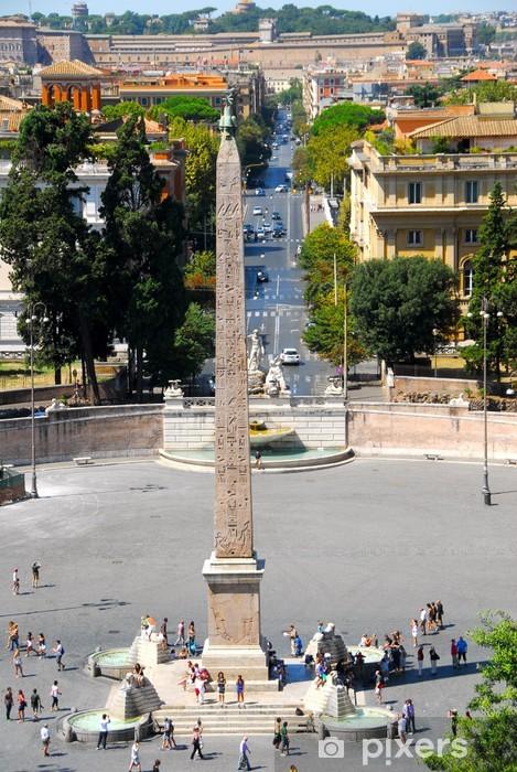 Naklejka Pixerstick Piazza del popolo - Miasta europejskie