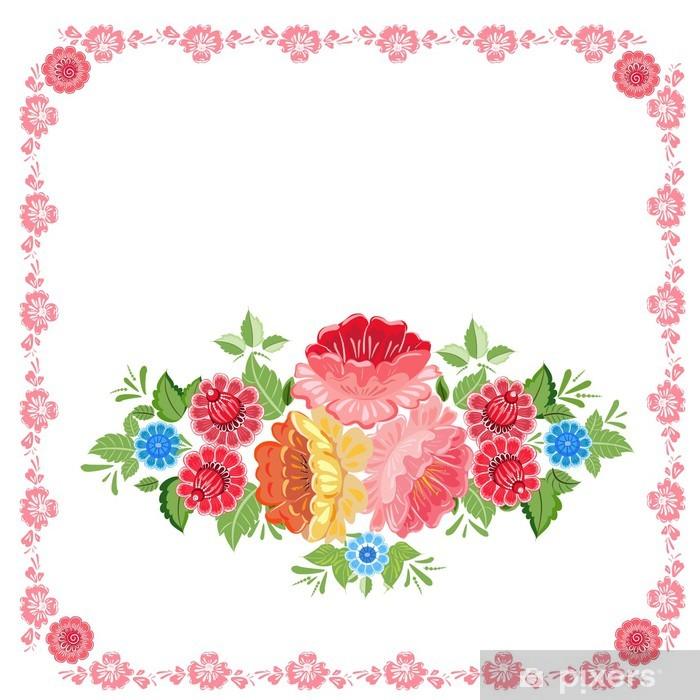 Poster Salutation à hohloma style - Arrière plans