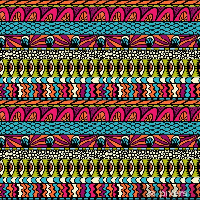 Papier peint vinyle Ornement ethnique coloré, vecteur, seamless. - Art et création