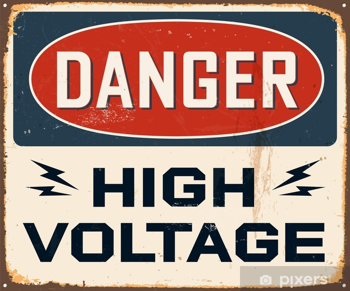 Vinyl Fotobehang Vintage metalen bord - Vector - Grunge effecten kunnen worden verwijderd. - Thema's