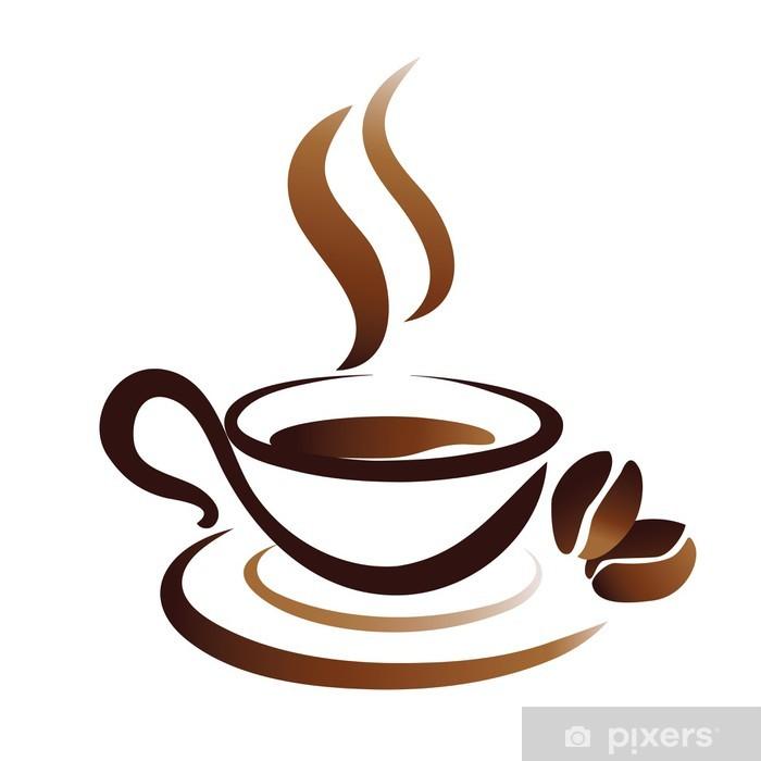Adesivo Disegno Vettoriale Di Tazza Di Caffè Icona Pixers