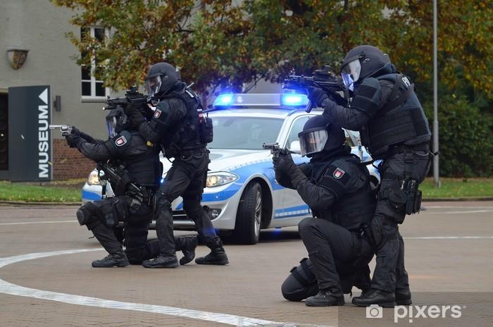 Papier peint vinyle MEK SEC groupe de travail spécial unité police de Hambourg - Au travail