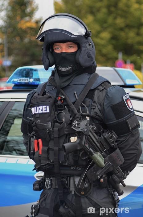Papier peint vinyle MEK SEC groupe de travail spécial unité police de Hambourg - Métiers