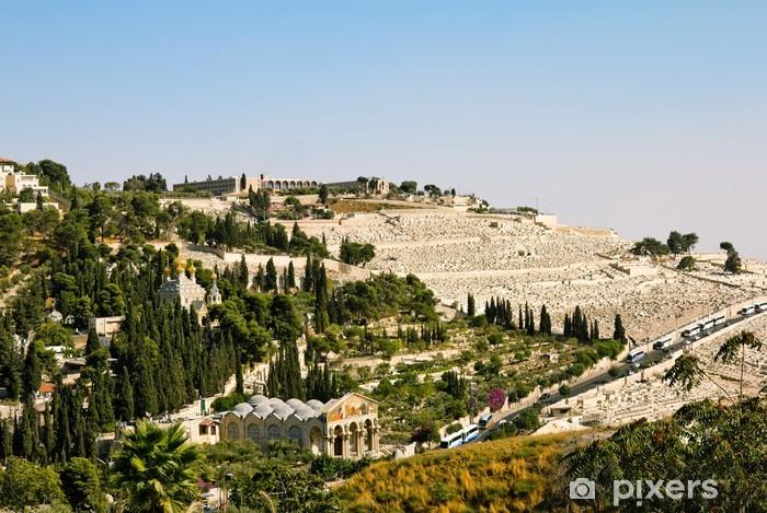 Naklejka Pixerstick Getsemani, i Kościół Wszystkich Narodów w Jerozolimie - Bliski Wschód