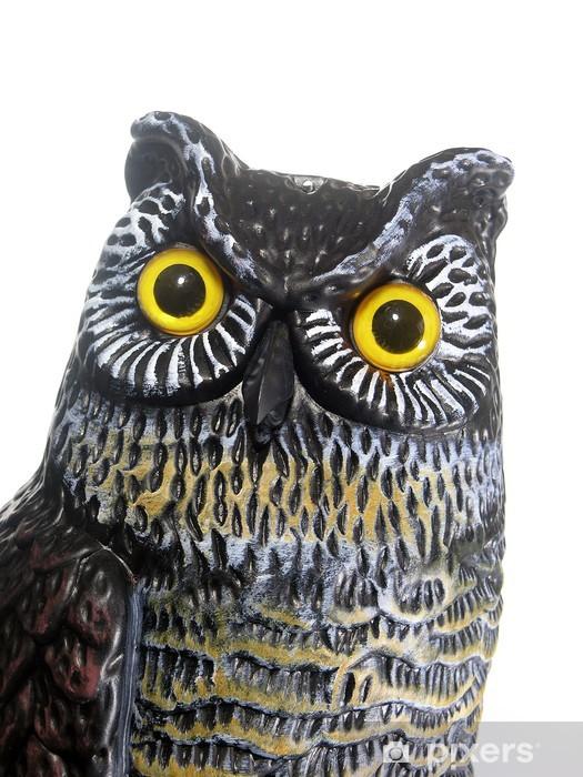 Sticker Pixerstick Owl Head - Monuments