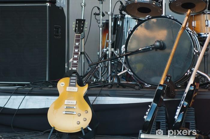Fototapeta winylowa Instrumenty muzyczne na scenie, Close-up - Tematy