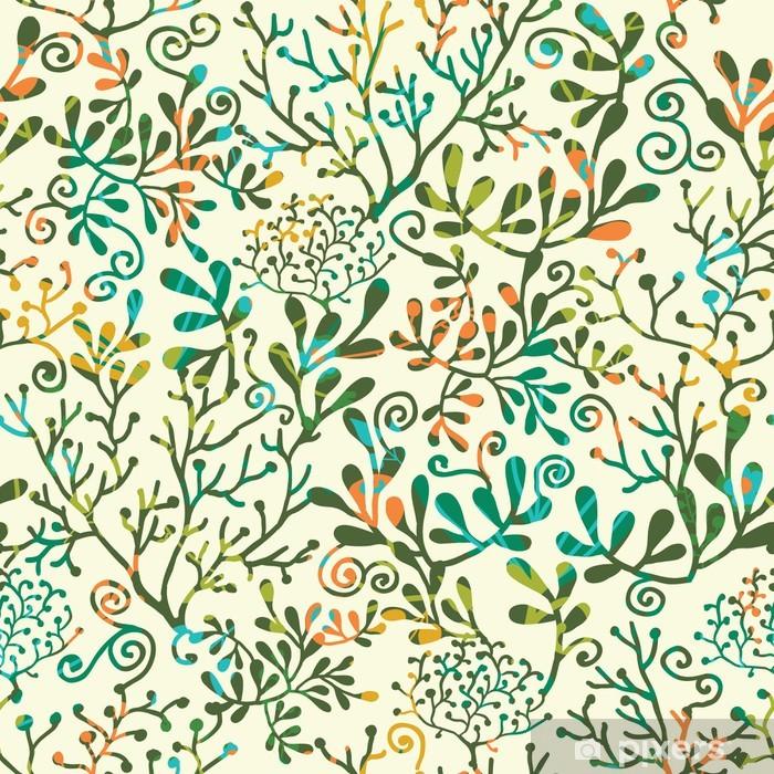 Fototapeta winylowa Wektor bez szwu tekstury roślin wzór z abstrakcyjne tło - Tekstury
