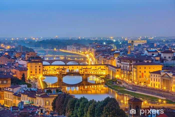 Papier peint vinyle Vue sur la rivière Arno à Florence - Thèmes