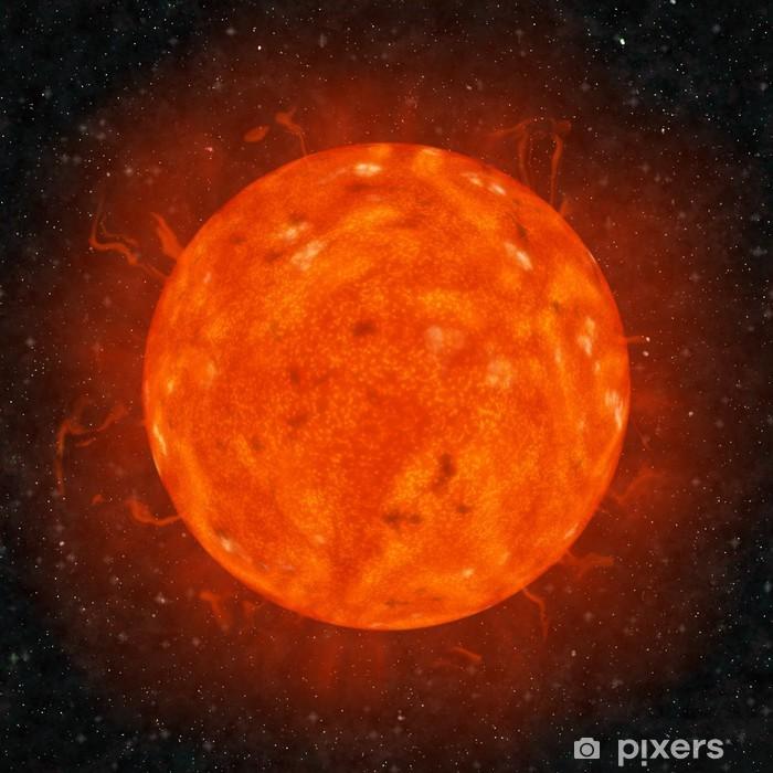 Plakat Realistyczne słońca na tle gwiazd tle - Przestrzeń kosmiczna