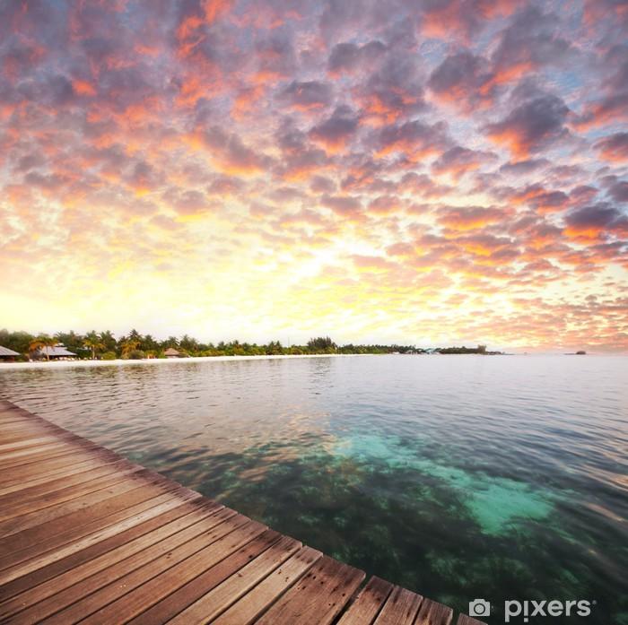 Sticker Pixerstick Maldives - Vacances
